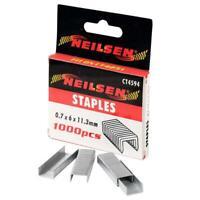 1000 Piece Flat Wire Staples 6 mm leg length - 0.7 mm Wire Gauge - 11.3 mm Crown