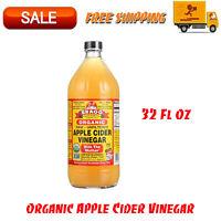 Bragg Organic Apple Cider Vinegar, Raw & Unfiltered, 32 Fl Oz, Delicious