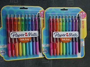 Paper-Mate Inkjoy 10 Medium-Point Gel Pens , 2 sets