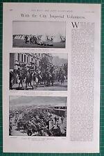 1900 BOER WAR ~ CITY IMPERIAL VOLUNTEERS CAPE TOWN ~ BIVOUAC LONDONS CITIZEN