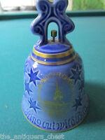 Vintage Bing & Grondah 1976 Porcelain Bell Denmark-Old North Church Mass[*4bells