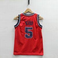 Vintage Jason Kidd #5 New Jersey Nets Nike Jersey Youth Size Small NBA