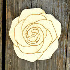 10x Wooden Rose Head Craft Shapes 3mm Plywood Flower