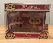 SDCC 2017 Funko Pop! Exclusive Flocked Chip And Dale Disney 2-pack