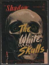Shadow 1945 November. Skull cover.    Pulp