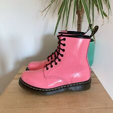 DR MARTENS PINK PATENT LEATHER 1460 LACE UP BOOTS 7 41 ANKLE 8 HOLE PASCAL VTG