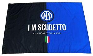 BANDIERA INTER ORIGINALE CAMPIONI D'ITALIA SCUDETTO 100x140 subito DISPONIBILE!!