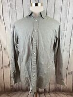 Ralph Lauren Mens Purple Label Gray Long Sleeve Button Shirt Made In Italy L