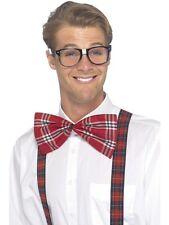Da Uomo Geek Costume Set bicchieri comando modifica & BRETELLE HEAD KIT NUOVO da Smiffys