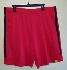 NWT Tek Gear Men's XXL Athletic Training Shorts RED & BLACK Polyester #26817