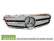 2008-2011 Mercedes-Benz W204 C63AMG Sedan only Chrome/Black 1 Fin Front Grille