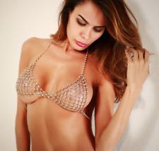 High quality all crystal bra handmade sexy lingeire