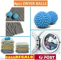 4pcs Dryer Balls Reuseable Natural Way to Soften Fabric Laundry Washing Softener