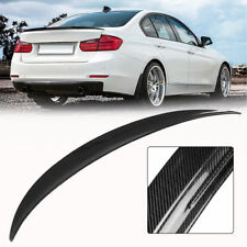 BMW 3Series F30 M3 F80 Full 100% Carbon Fiber Rear trunk boot lip Spoiler Pstyle