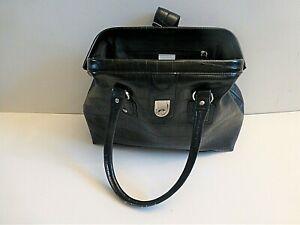 Ladies Liz Cailborne Hand Bag / Tote Bag- Black Crocodile Skin Effect