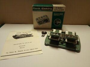 Rank Electra 3 Way Splicer for Super 8mm, Standard 8mm & 16mm films. In Orig box