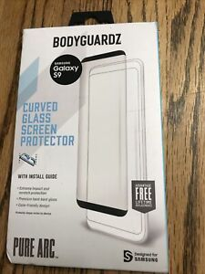 BodyGuardz Pure Arc Curved Glass Screen Protector for Samsung Galaxy S9 Sealed