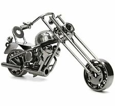 UK SELLER HANDMADE MOTORBIKE MODEL METAL MOTORCYCLE NUTS/BOLTS CRAFT CHOPPER