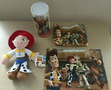 VGC Jessie Soft Toy + Tag Toy Story Poster Jigsaw Puzzle Tin 2 pieces missing GC