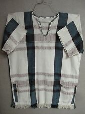 African Men's Woven KIKOI KIKOY Tunic Shirt 2 POCKETS Beautiful Pattern #DK124
