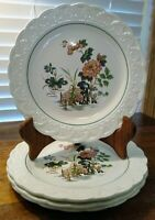 "4 Wedgwood Of Etruria & Barlaston Eastern Flowers 8 3/4"" Plate Sold Individually"