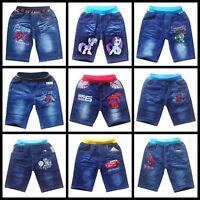 Ex-Store Kids Boys Casual Denim Elasticated Waist Summer Short Pants, 2,4,6,8yrs