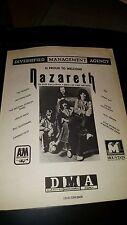 Nazareth Diversified Management Rare Original Promo Poster Ad Framed!