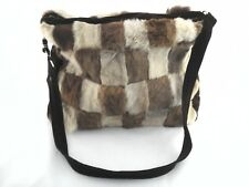 KANGAROO Fur Purse Satchel Shoulder Bag Brown Patchwork Boho Hippie Australia
