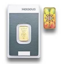 Kinebar Goldbarren 5g Heraeus - 5 Gramm Feingold 999.9 - Prägefrisch