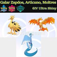 6IV Ultra Shiny Zapdos, Moltres, Articuno Galarian Galar Pokemon Sword / Shield