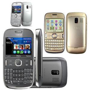 Original Nokia Asha 302 3020 Unlocked QWERTY WIFI 3G Bar Phone  GSM Smartphone