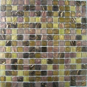 GLASS MOSAIC TILE SHEETS - SPARTAN MIX - VARIOUS PACK SIZES