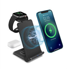 3 In 1 15W Qi Wireless Charger Dock Stand For Apple AirPods iWatch iPhone 12 Pro