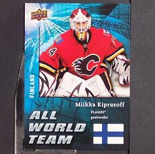 MIKKA KIPRUSOFF  2009/10  UD  All World Team  #AW24  Calgary Flames  Finland