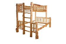 Rustic Red Cedar Log BUNK BEDS - FULL OVER QUEEN - Amish Made in the USA