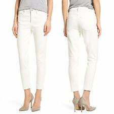 CITIZENS of Humanity Rocket Crop Skinny Jeans Sz 27 Distressed High Rise White