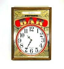 George Nathan Private Bar Wall Clock Customizable Name Plate