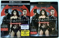 DC BATMAN V SUPERMAN DAWN OF JUSTICE 4K ULTRA HD UHD BLU RAY 2 DISC + SLIPCOVER