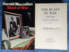 Hand Signed Book HAROLD MACMILLIAN - THE BLAST OF WAR Prime Minister 1939-1945