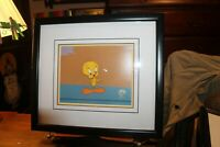 "1995 Framed 2000 Mush To Do About Nothing Tweety Bird Sericel ORIGINAL 14""x 16"""