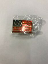 American Flag Lapel Pin With Shiny Stars - Patriotic Us U.S. Usa U.S.A.