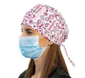 Breast Cancer Surgical Cap Women I Nurse Cap I Scrub Cap