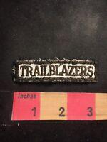 Vintage Black On White TRAILBLAZERS Tab Patch C91M