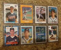 8) Tom Glavine 1988 Fleer Topps Score Donruss Rookie card lot RC 1989 Upper Leaf