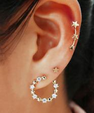 Fashion Personality Pentagram Earring Simple Rhinestone Stud Fashion Earrings