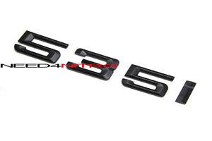For BMW 5-Series 535i Rear Trunk Logo Emblem Matte Black Letters Sticker Decal