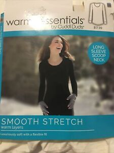 Warm Essentials By Cuddl Duds Size XXL White Long Sleeve Scoop Neck
