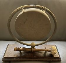 More details for late victorian dinner gong with striker or yoga meditation sounding bell 15cm