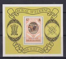 1981 Royal Wedding Charles & Diana MNH Stamp Sheet Turks & Caicos SG MS656