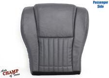 96-99 Pontiac Firebird Trans Am-Passenger Side Bottom Leather Seat Cover Dk Gray